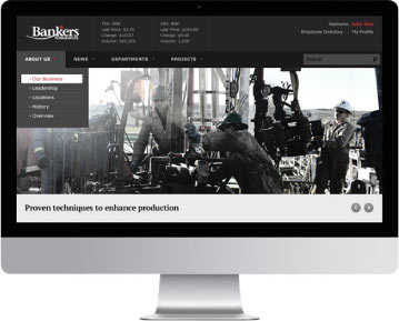 Custom SharePoint Layout for Bankers Petroleum