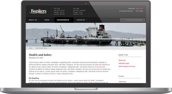 Bankers Petroleum Intranet Screenshot