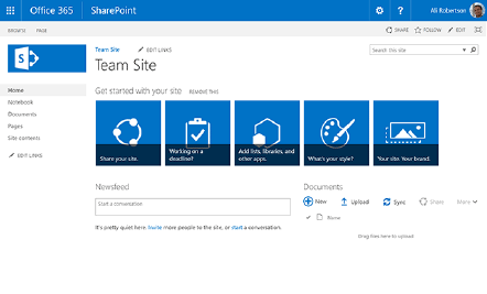 SharePoint Out-of-Box Screenshot